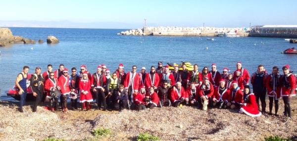 Más de 70 pilotos participan en la II Travesía Papa Noel a Tabarca