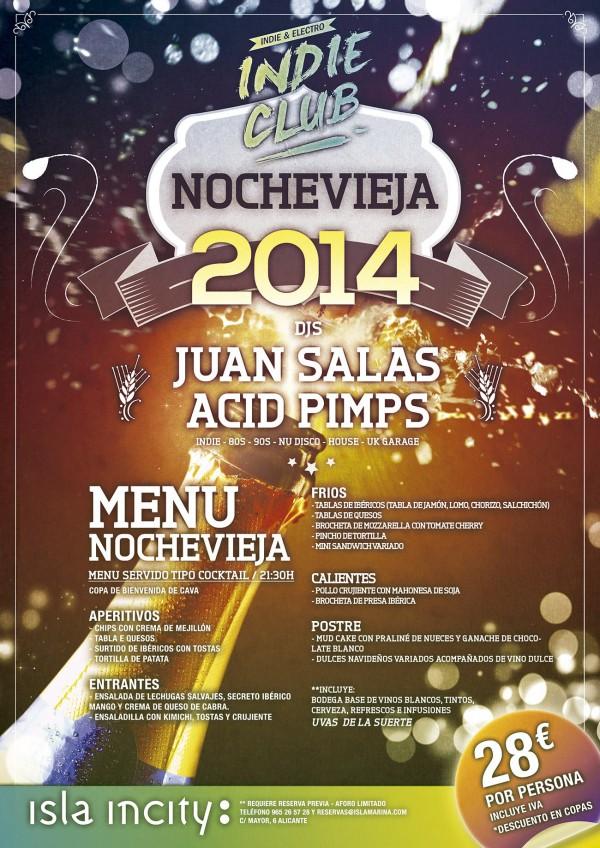 Nochevieja 2014 Isla Incity Indie Club Alicante